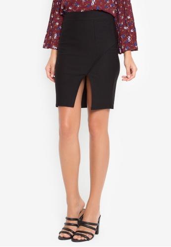 LA VIDA MODA black Rome Short Skirt 283BBAADF0280DGS_1