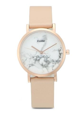 CLUSE gold La Roche Petite Rose Gold White Marble/Nude Watch 1DA89ACD468C55GS_1