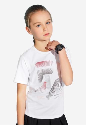 FILA white FILA KIDS FILA x STAPLE Logo Cotton T-shirt 8-13yrs F7533KAE7CE672GS_1