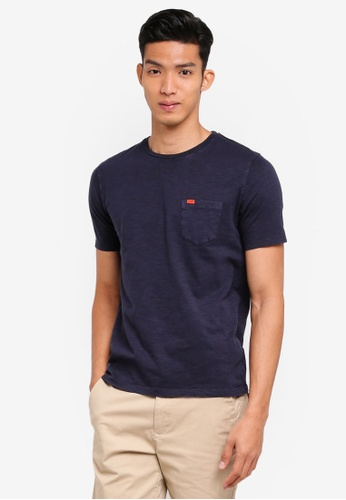 Superdry navy Dry Originals Short Sleeve Pocket Tee 2F0D7AA7C91046GS_1