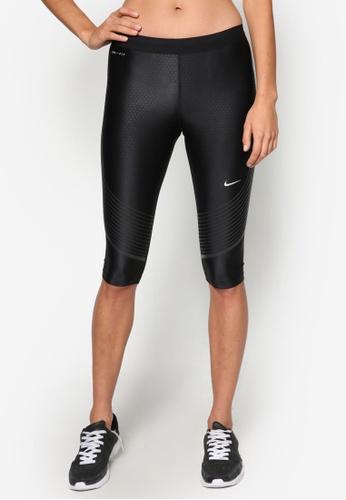 Nike black Women's Nike Power Speed Running Capri Tights NI126AA44RETMY_1