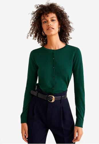 Mango green Button Knit Cardigan AA699AAF1838B4GS_1
