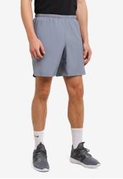 "Reebok grey Les Mills 7"" Woven Shorts RE691AA0RYBHMY_1"