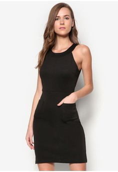 Collection Patch Pocket Halter Dress