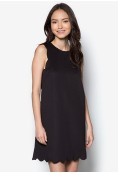 Love Scallop Edge Swing Dress