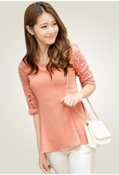 Flared Innocence Lace Top