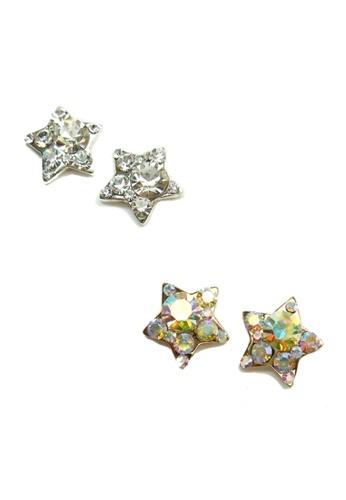 Pretty2u silver 5PCS Star Nail Accessories Bling Jewelry CC21EBED98BA8DGS_1