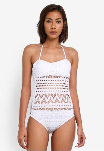 SunThing Cool white Alyssa White Crocheted Monokini SU709US0SCRGMY_1