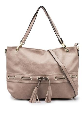 Mel&Co brown Faux Leather Drawstring Shopper Bag B5152ACBE15AE0GS_1
