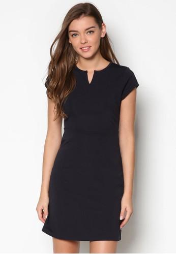 Eesprit outlet hong kongssential 簡約蓋袖傘擺連身裙, 服飾, 正式洋裝