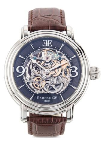 Longczalora 台灣門市ase 鏤空齒輪皮革錶帶圓錶, 錶類, 飾品配件