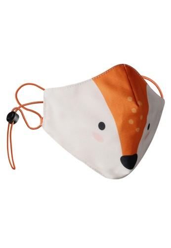 Rokarola multi Adjustable Elastic Earloop Mask Kids - Fox (Water Repellent - Anti-Bacteria) 9CFBEES410FE81GS_1