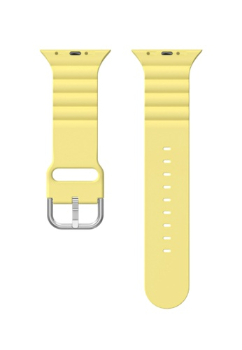 Kings Collection yellow Yellow Silicone Apple Watch Band 42MM / 44MM (KCWATCH1069a) 740B0AC8A6F42FGS_1