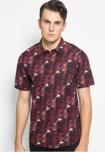 YEGE red YEGE Short Sleeve Print Shirt 0095 82E09AA5E795F4GS_1