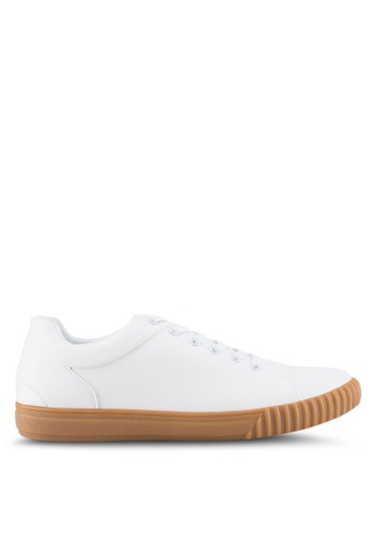 ZALORA white Trainers in Gum Sole 8DE8FSH7B14845GS_1