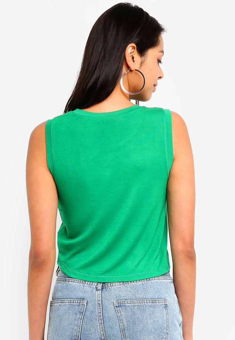 Sleeveless Baby Tank On Green Gully Top Cotton qHAwEn5xgp