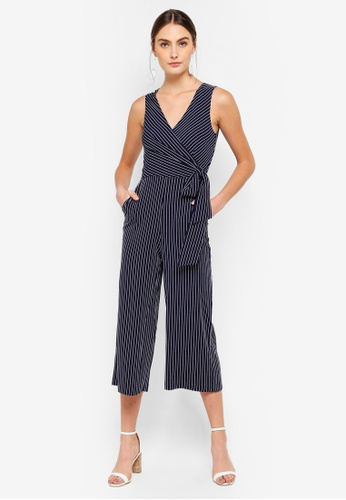 FORCAST navy Ayla Crossover Jumpsuit 40564AA5A11CA3GS_1