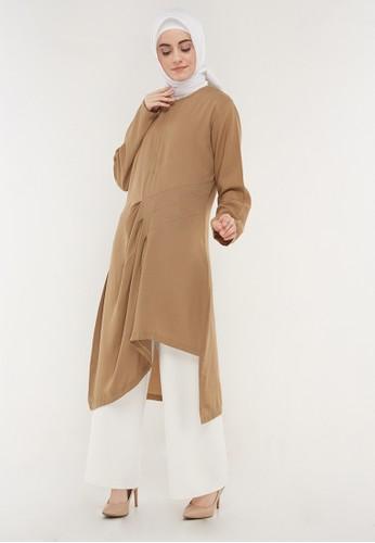 Hanalila Daily Hijab brown Sunny Tunic In Mocca DCE9FAAA2B5B79GS_1