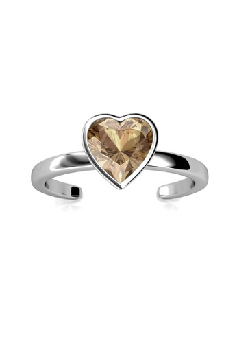 Her Jewellery silver Liebe Ring (Champagne) - Made with premium grade crystals from Austria 3292DAC628C798GS_1