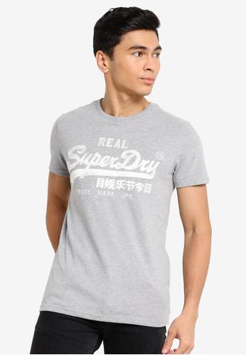 SUPERDRY grey Vintage Logo Embroidery Tee E1AB8AA85FEC5EGS_1
