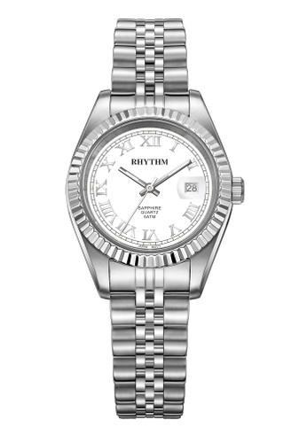 Rhythm RQ1612S 01 - Jam Tangan Wanita - Stainless - Silver White