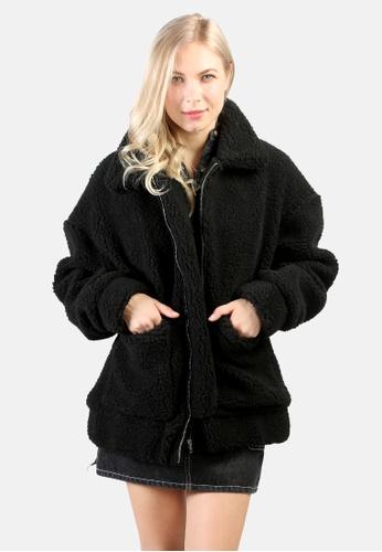 London Rag black Winter Teddy Jacket 93A76AAD588072GS_1