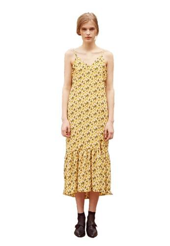 17SS花紋連esprit 香港衣裙, 服飾, 洋裝