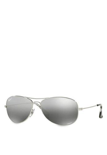 Ray-Ban silver RB8317CH Chromance Sunglasses RA896GL07GQYMY_1