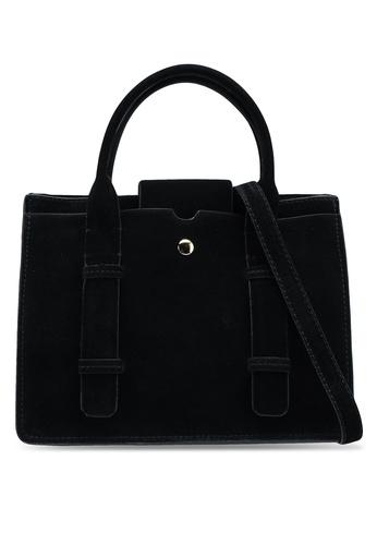 Mango black Double-Strap Leather Bag 14415AC0B3BF92GS_1