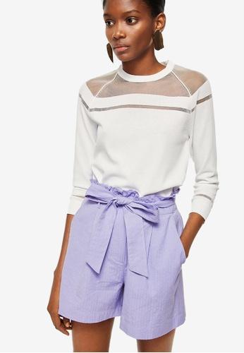 Mango purple Belt Shorts 1382DAA7AEE44EGS_1