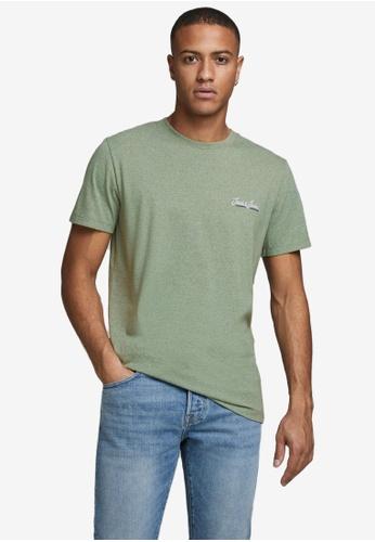 Jack & Jones green Tons Short Sleeves Crew Neck Tee 124E1AAB4CEB3AGS_1