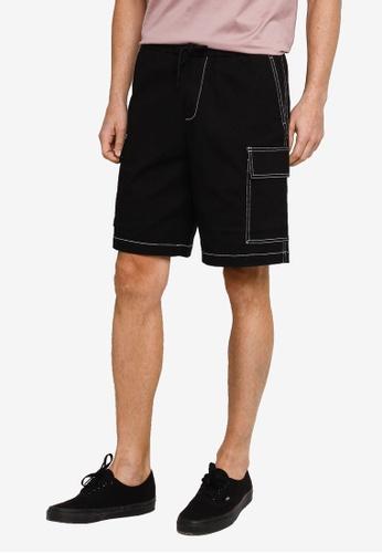 URBAN REVIVO black Drawstring Shorts 8FE6FAA2303D10GS_1