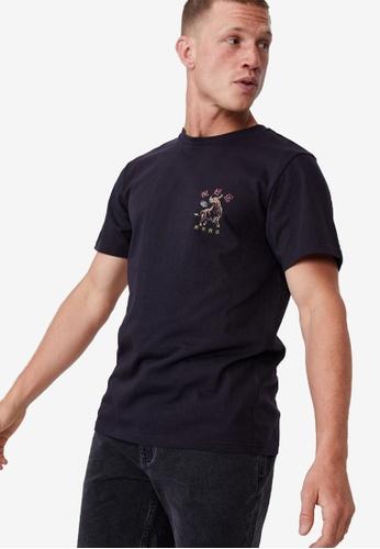 Cotton On navy Tbar Cny T-Shirt 5D78CAADD27D98GS_1