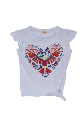 DU PAREIL AU MÊME (DPAM) white White T-Shirt With Rainbow Print Heart 56F40KAD6D95B7GS_1