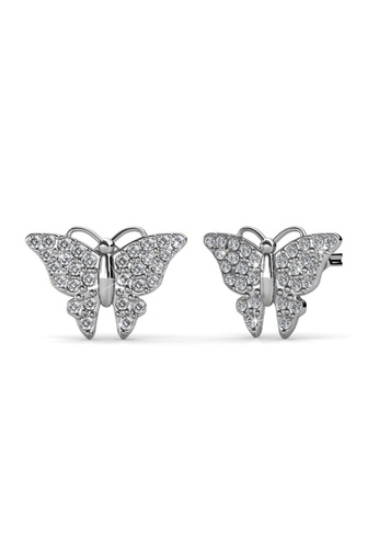 Her Jewellery silver Her Jewellery Butterfly Earrings with 18K Gold Plated C3C3CAC9797689GS_1