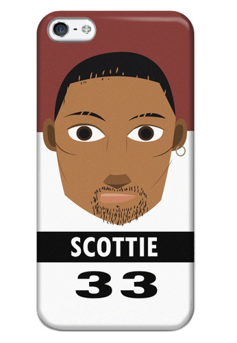 Wonder Cover black and white and brown and red Scottie Matte Hard Case for iPhone 5, 5s WO617AC53CLUPH_1