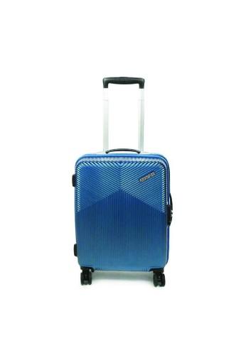 American Tourister blue American Tourister Armada Koper Hardcase Cabin/20inch TSA Double Zipper – Moonlight Blue 32707AC7155729GS_1
