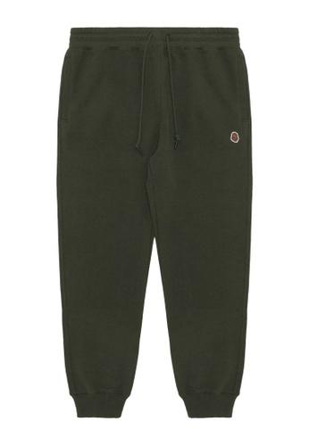Fingercroxx green Bigfoot badge sweatpants C682FAA4F1B90EGS_1