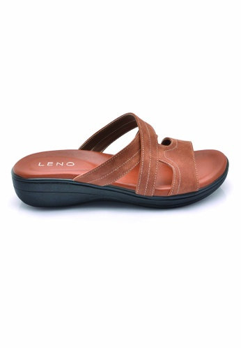 LENO brown Crolisy Wedge Sandals (LS36611) LE122SH0RQK1MY_1