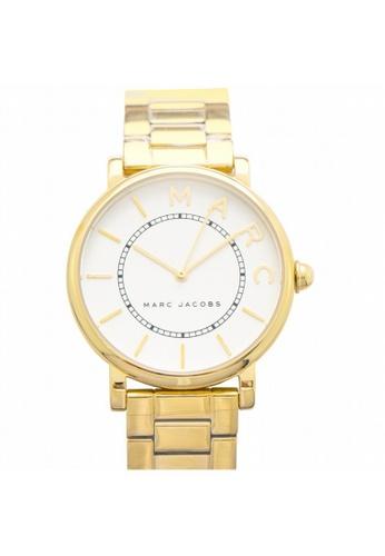 MARC JACOBS [NEW] Marc Jacobs Roxy White Satin Dial Ladies Gold Tone Watch 36MM MJ3522 CF6FFACA0F298EGS_1