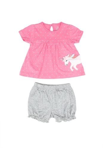 Milliot & Co. pink Averie Girls Top & Bottom Set E1BC6KAC99F082GS_1