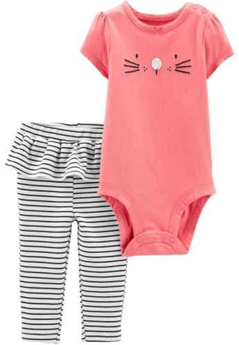 Carter's pink CARTER'S Girl Pink Mouse Bodysuit & Pant Set 20276KAF94E3BCGS_1