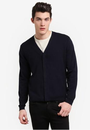MANGO Man navy Textured Cotton Sweater MA449AA0RGV0MY_1