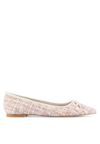 Velvet beige Tweed Ballet Flats 207D1SHF6BA2A6GS_1