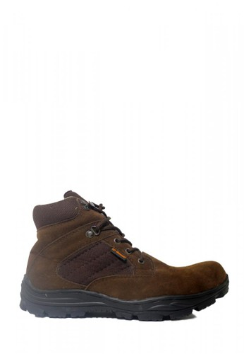 Cut Engineer brown Cut Engineer Zipper Taktical Low Safety Boots Iron Leather BROWN B8B8CSH2F9B8D0GS_1