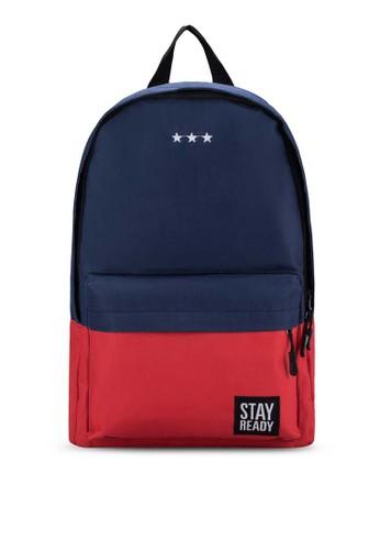 韓式色塊旅遊esprit 台中後背包, 包, 後背包