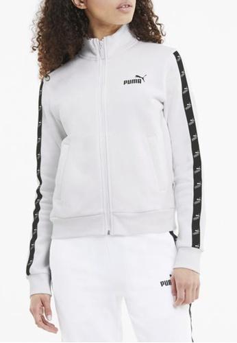 puma white Amplified Full Zip Women's Track Jacket 2D0E2AAC8E241EGS_1