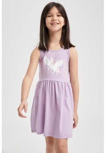 DeFacto purple Girl Dress 8B601KA1623AE3GS_1