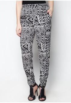 Print Emb Side Pants