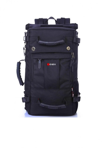 Fashion by Latest Gadget black KAKA Men Travel Backpack Waterproof Black E9DE7AC5151811GS_1